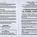 EMANCIPATION DE LA FEMME AFRICAINE 1