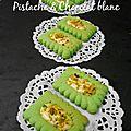 Biscuits fondants à la pistache et chocolat blanc