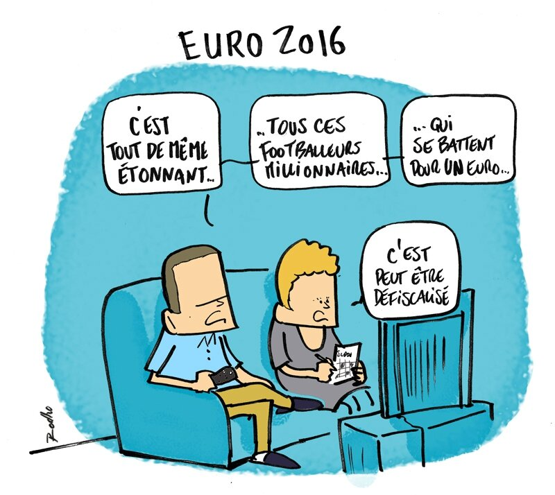 Finale euro 2016 la france le portugal le football rodho dessin de presse illustration - Dessin du portugal ...