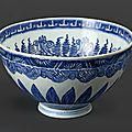 Bol en porcelaine à décor en bleu sous couverte, marque <b>shen</b> de <b>tang</b> <b>zhi</b>, Epoque Ming