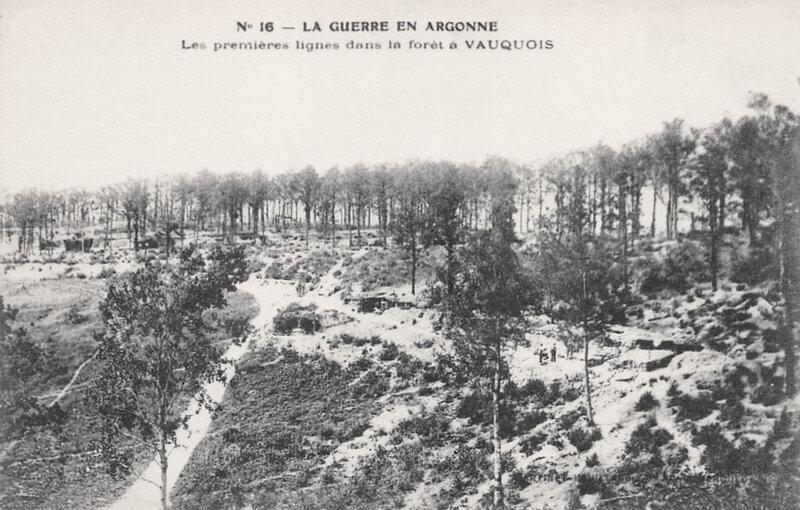 forêt Vauquois, premières lignes