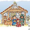 La petite histoire de la Nativité - un livre pop-up inédit (5) : Les rois mage déposent leur offrande au pied de Jésus