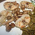 Râble de lapin au beurre d'escargot
