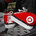 Chausson basket crochet