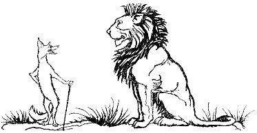 Le lion, le renard et l'âne.
