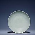 A fine mouldedShufu dish, Yuan dynasty (1279-1368)