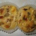 Petits cakes feta, olives, tomates sechées et poivron