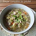 Soupe complète au poulet