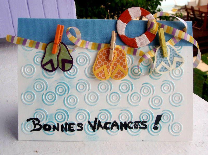 Carte vacances Pascal & Joe Juillet 2012 Atelier à Scrap