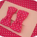 Barrettes noeuds / tissu au choix : 7 euros