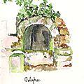 Golinhac : ancienne source tarie