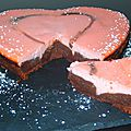 Coeur fondant chocolat caramel framboise (sucre saveur framboise)