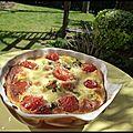 Clafoutis tomates cerises et brocoli