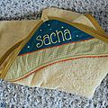 cape de bain personnalisée Sacha