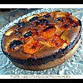 Abricots frais rôtis/amandes inspiration conticini (tarte)