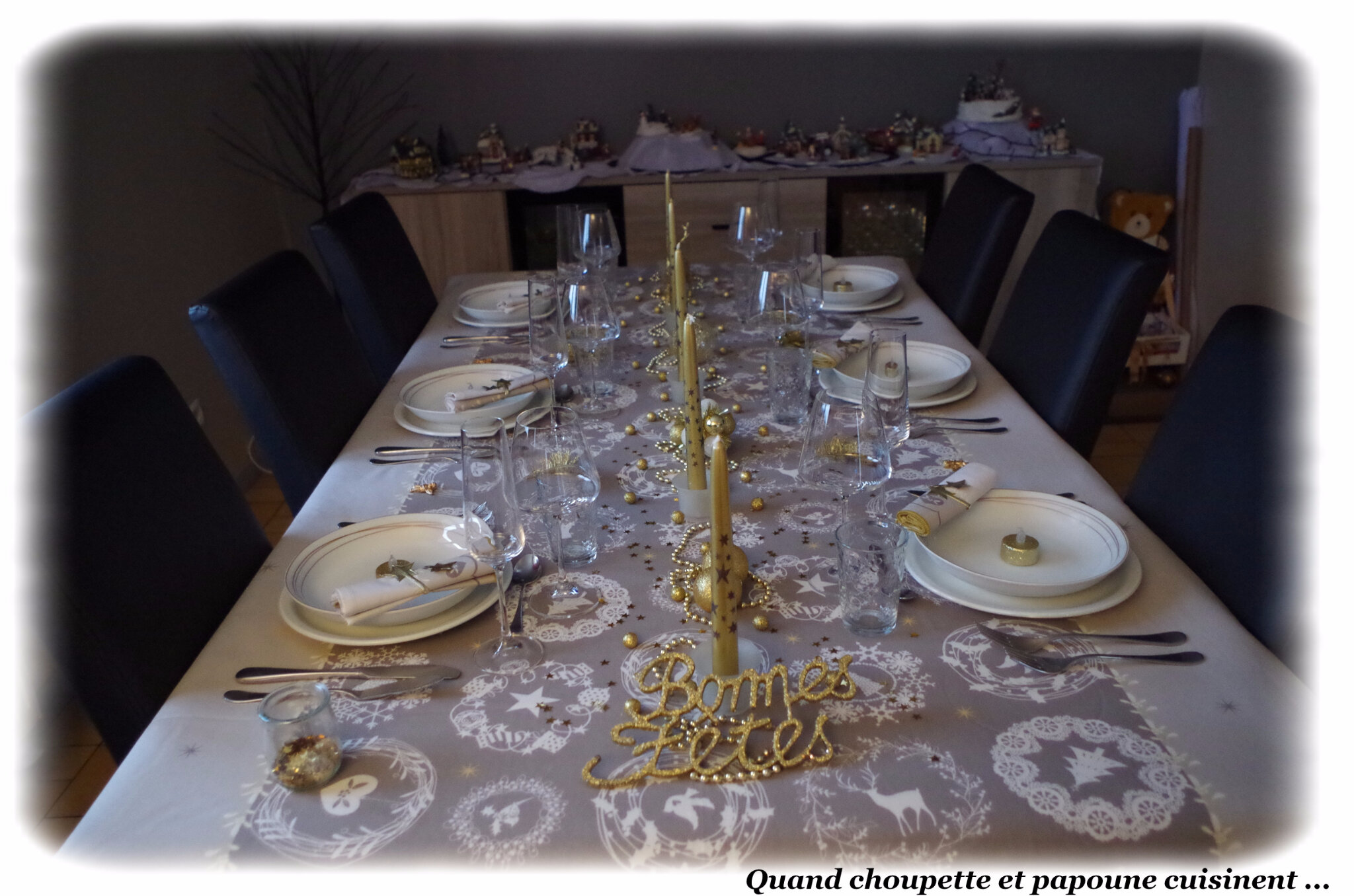 MA TABLE DE NOEL EN OR