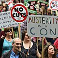 Londres, 20 juin 2015 : manifestation anti-<b>Tories</b>.
