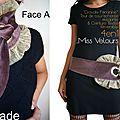 Une Idée Cadeau en Mode : Version marron Glacé et Or ... L'écharpe revisitée en Cravate Féminine et <b>ceinture</b> !
