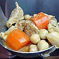 Porc mijoté aux carottes et pois chiche