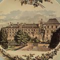 <b>Assiette</b> Ancienne Château de Blois Faïence de Sarreguemines XIXème