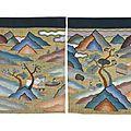 Four kesi silk panels, <b>circa</b> <b>1900</b>