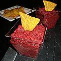 Guacamole de betterave rouge