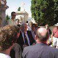Au cimetière du château, Alain Roullier rend hommage à Rosa Garribaldi, mère du héro