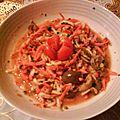 Râpé de carottes et courgette à l'huile de