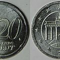 20 cent allemande en nickel