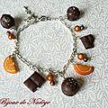 Bracelet gourmand orange chocolat