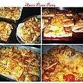 Pizza party : jambon/champignons, jambon cru/tomates cerises/mozza, brie/miel et poivrons/chorizo