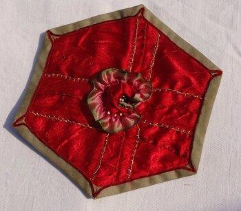 HX 17 rose ORIGAMI rouge