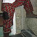 Pantalon en tissu africain ou wax avec poches