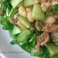 Salad đậu trắng rau <b>càng</b> cua