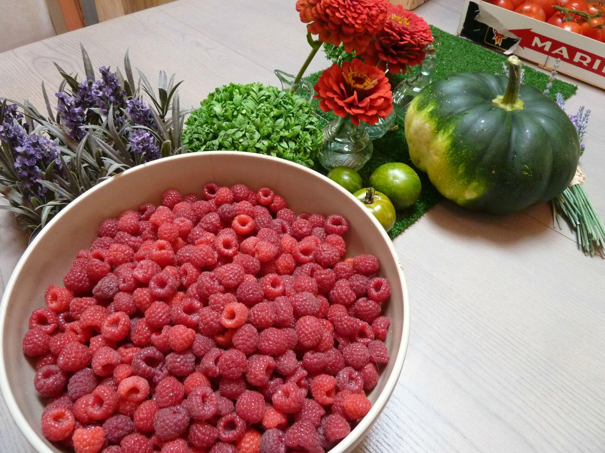 framboises de mon potager - www.passionpotager.canalblog.com