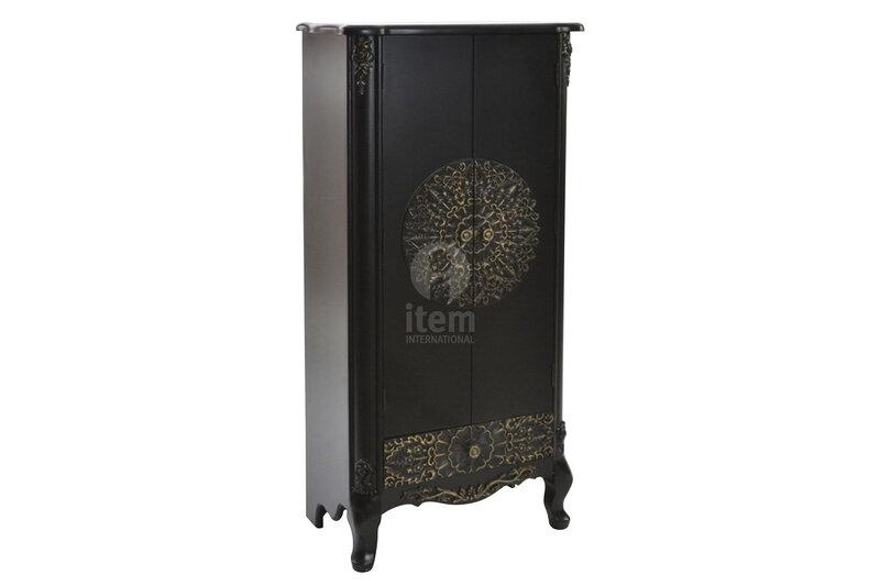 armoire noire sculptée orientale