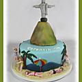 Gâteau thème brésil