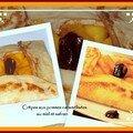 Crêpes aux pommes caramelisees au miel et au safran