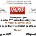 Cholet - assemblées citoyennes - vivre ensemble et 6ème république