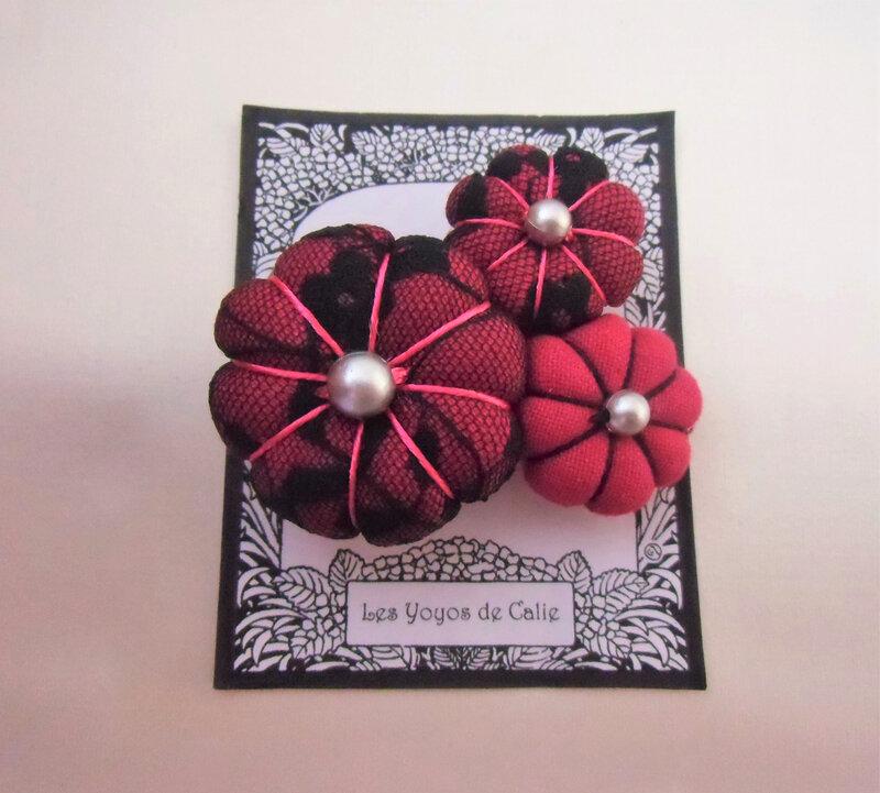 Broche fleurs potirons ADELIE les yoyos de calie 1