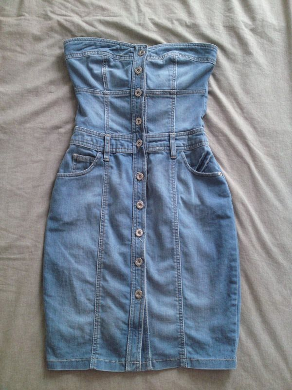7acf60be1c5 Robe bustier en jean    Taille 36 - Dress It