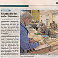 46e Bourse toutes collections à Belfort, article de <b>L</b>'<b>Est</b> <b>Républicain</b> annonçant la manifestation du 19 janvier