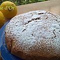 Gâteau moelleux au citron et au limoncello