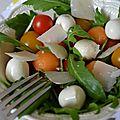 Salade de billes colorées