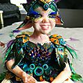 Léonie, wip chapitre 3 - habillage des bras, mise en peinture