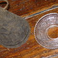 Côines métal et coupelle verre pour bougie