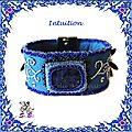 Very blue bracelet, bracelet très très bleu