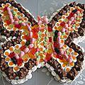 Gateau de bonbons papillon n°1