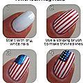 ongles <b>drapeau</b> <b>américain</b> !!!