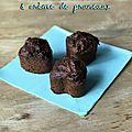 Muffins chocolat et crème de pruneaux (sans matière grasse et très peu sucré)